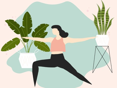 Let yourself grow graphics plants yoga vector graphicdesign illstration