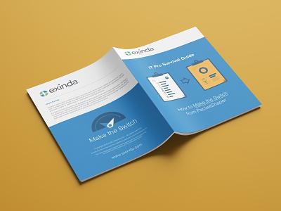 Exinda - Make the Switch student print design packet corporate media technology booklet illustration network exinda guide