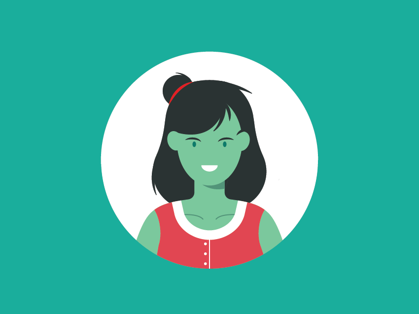 Scientist Liaison - v1 concept science liaison scientist vector simple portrait illustration flat character