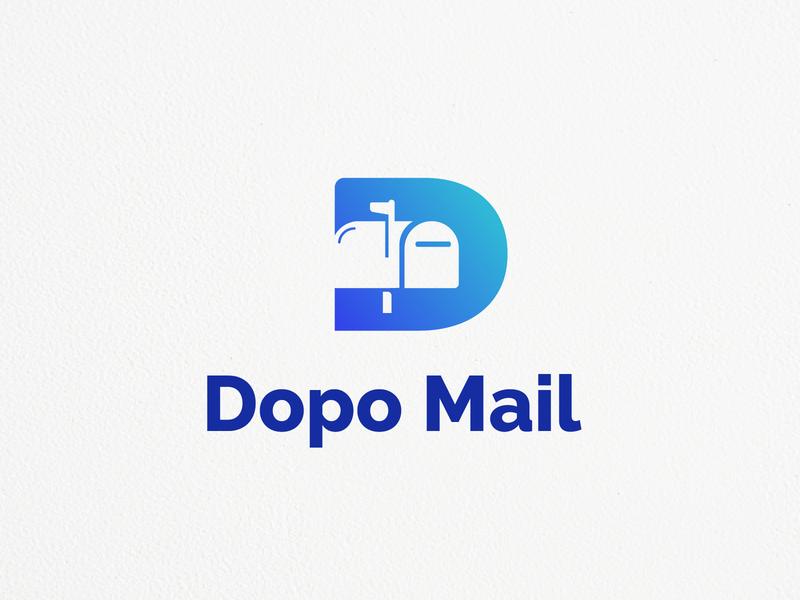 Dopo mail Logo apps needlogo logo icon symbol icon mail icon mail logo mailing mail app app blue negative space negative space logo mail letter lettermark logo designer logo mark logo design logo