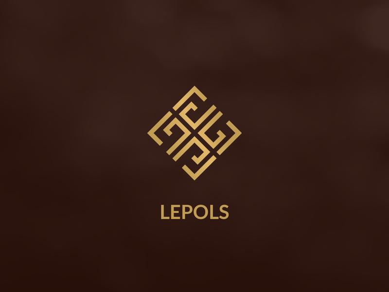 Lepols Logo old square simple logos elegant unique classic classy brown gold luxury logo luxury furniture business corporate logo mark identity branding logo design logo