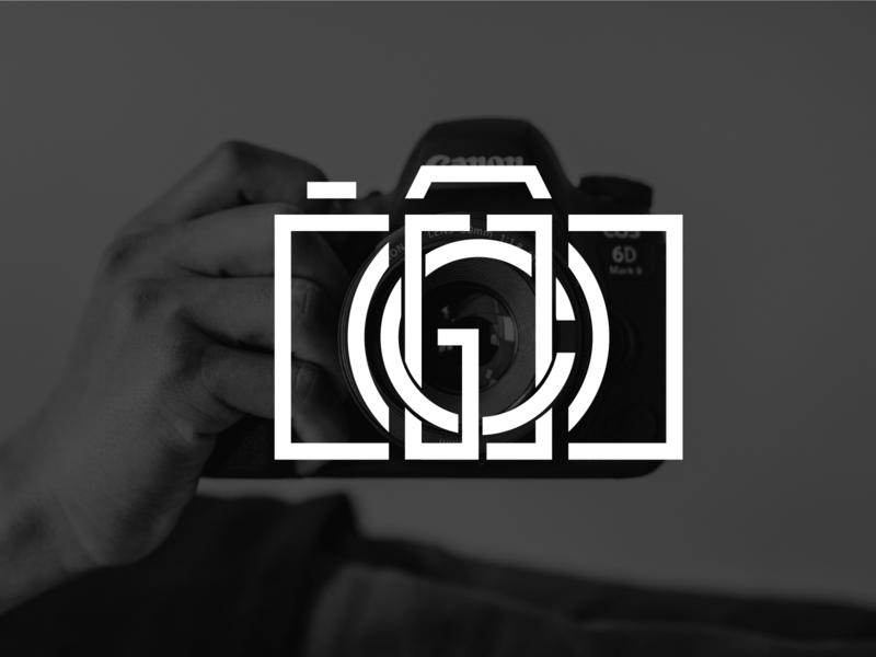 Monogram Camera Logo minimalist modern monoline line monogram logo monochrome monogram photographer photography photograph photos photo elegant design logo mark branding icon logo design logo camera