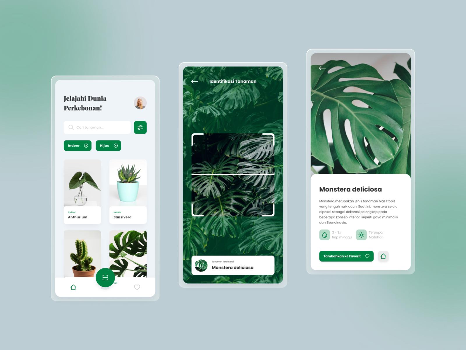 #Exploration | Gardening App nature app minimal ux ui design