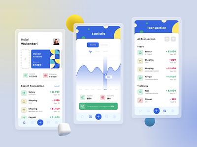 #Exploration   Money Management App money app app minimal ux ui design