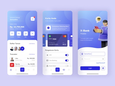 #Exploration | Mobile Banking App banking app illustration branding app minimal ux ui design