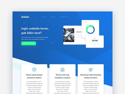 #Exploration   IsolusIndonesia Landing Page branding minimal website web flat design ux ui