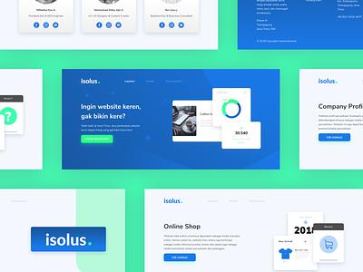 #Exploration   IsolusIndonesia Pages minimal flat app website web design ux ui