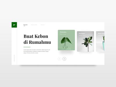 #Exploration   Gardening Website nature web ux design website minimal ui