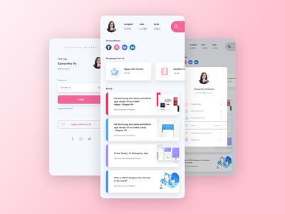 #Exploration   Personal widget on smartphone icon branding design app flat minimal ux ui