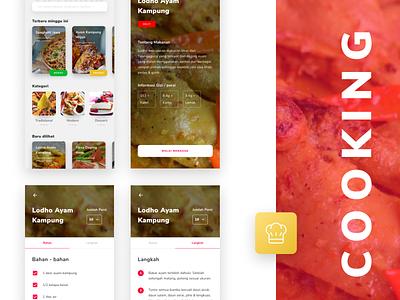 #Exploration   Cooking Apps recipe book mobile app food app cooking app flat branding app minimal ux ui design