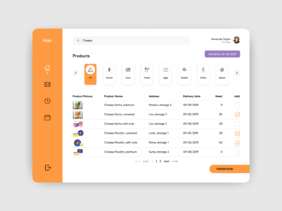 Platform for ordering products