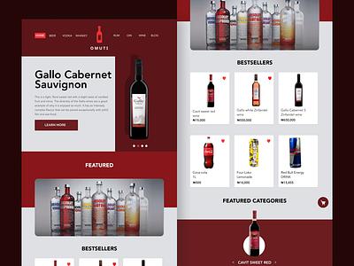 Omuti - Alcohol Vendor Ecommerce website design ux figma ui ecommerce shop ecommerce alcoholic alcohol branding alcohol