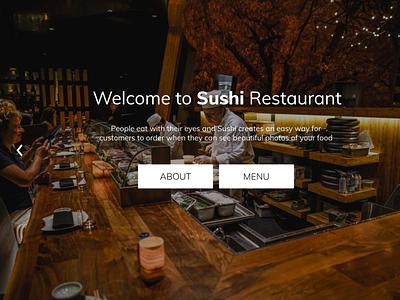 Sushi Restaurant web design website design ux figma ui restaurants restaurant