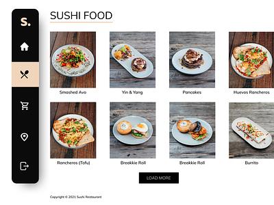 Sushi Restaurant Menu website web design figma ux ui restaurant sushi