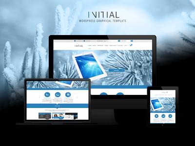 Initial Mockup webdesign wordpress template design photoshop mockup layout