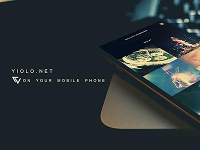 Cover Dribbble phone mobile yiolo portfolio
