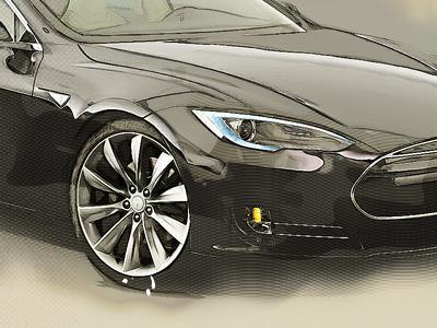 Tesla by yiolo car tesla hand effects photoshop