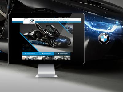 Bmw bmw design digital-art photoshop webdesign template layout