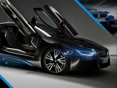 BMW Digital i8 bmw design digital-art photoshop webdesign template layout