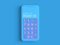 DailyUI 003 :: Calculator