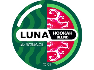 Hookah blend stiker_Watermelon packagedesign illustration branding minimal design illustrator vector