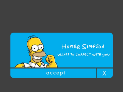 Homer Simpson confirmation message