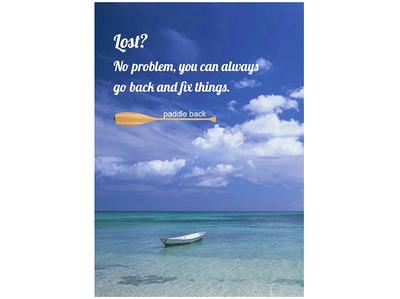 404 page concept design
