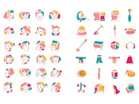 Chinese national minority.Illustration-Icons