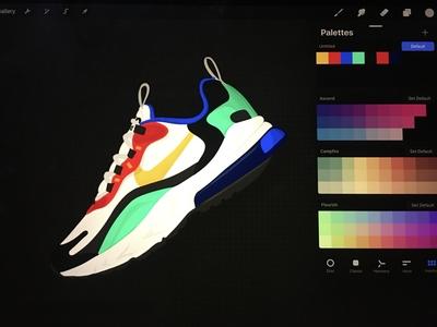 <3 Nike vector procreate illustration