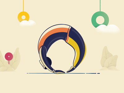 Chakrasana park ipadproart procreate yoga vector illustration