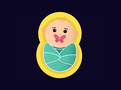 Baby icons baby colors vector illustration