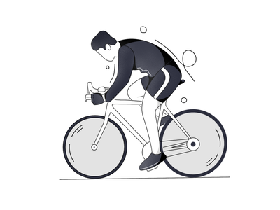 Cycle away onboarding screen design line artwork line art line minimal vector illustration onboarding ui onboarding