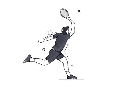 Tennis dailyicon dailyillustration minimal onboarding ui onboarding lineart ux ui design branding vector