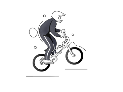BMX minimal icon illustration line art ui logo branding design
