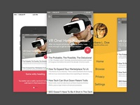 News App UI Design discover blog article social iphone ios ux ui