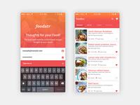 Foodstr - Mobile App UI