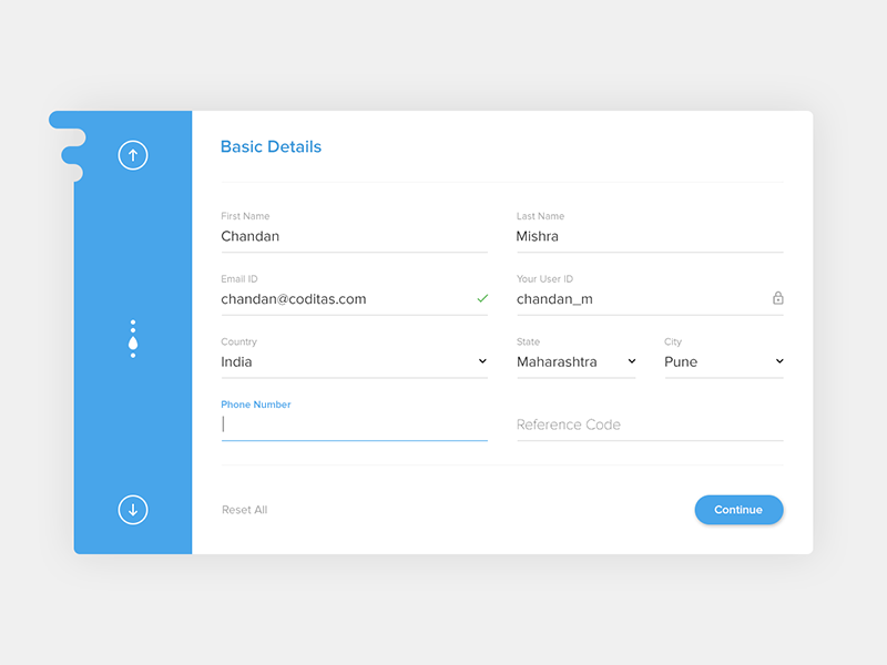 Free Material Registration Form Ui By Chandan Mishra On Dribbble