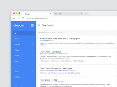 Redesigning Google Search Results - Free PSD