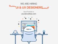 We Are Hiring UI & UX Designers
