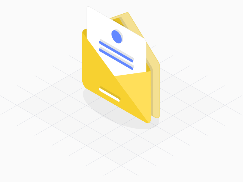 Freebie – Isometric Envelope Icon