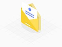 Freebie - Isometric Envelope Icon