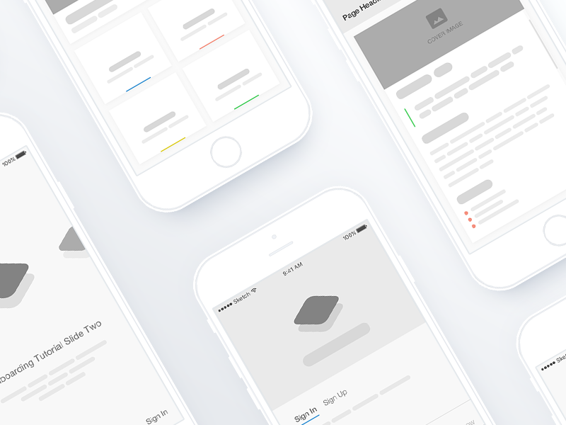 iOS App Wireframes