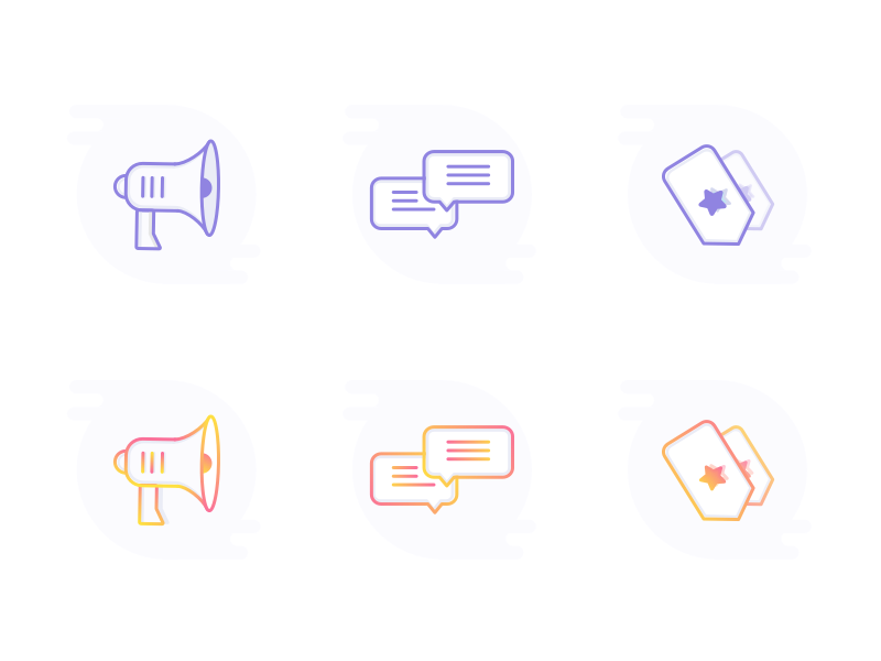 Icons Freebie – Gradient? No Gradient?