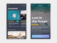 Travel App UI - Dark Version