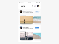 Photo Sharing App - UI Animation
