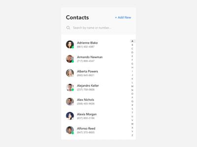 Phonebook UI - Full