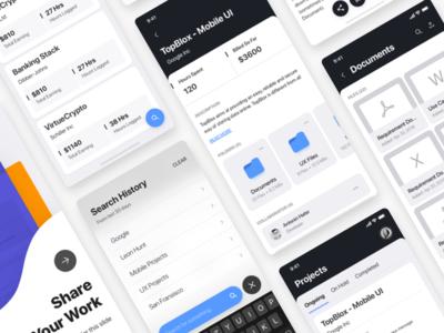 Freelancer's Mobile Dashboard - Wireframe Set