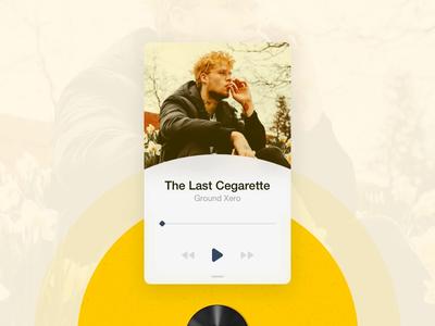 Music Player Widget microinteraction user interface user experience material freebie design app minimal ux ui music player widget