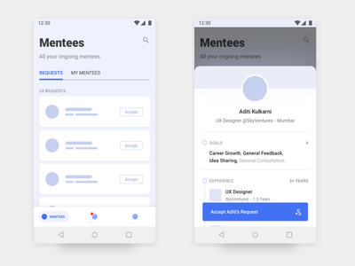 Thread - Android App Design - 1 design user experience dashboard material android wireframes minimal ux ui