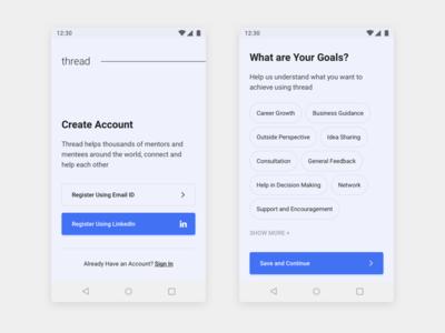 Thread - Android App Design - 2